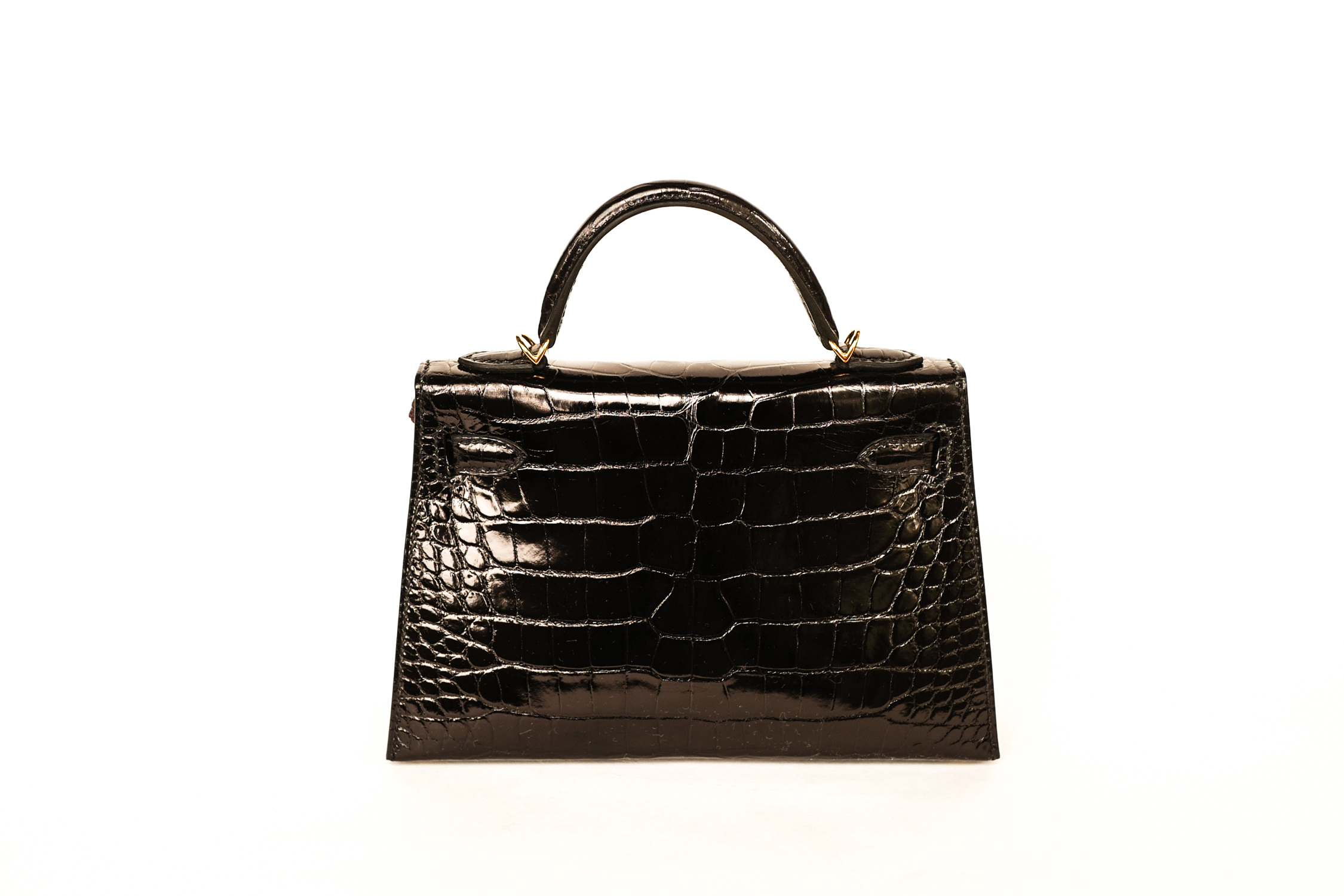 456b86bb04c ... wholesale hermes kelly mini black shiny croc e2566 e0bc8